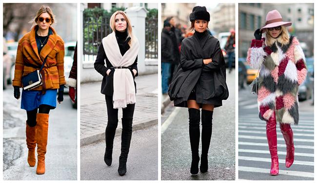 С чем носить ботфорты в 2019 году: советы стилистов