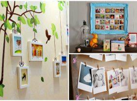 Как оформить стены фотографиями без рамок своими руками
