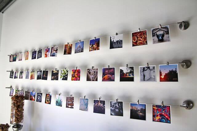 как красиво оформить стену фотографиями